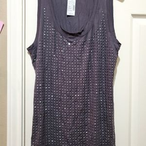 Maurices grey top with silver embellishments